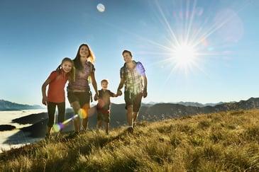 Herzlichkeit Urlaub Familienhotel Harmls Flachau in Österreich Wandern