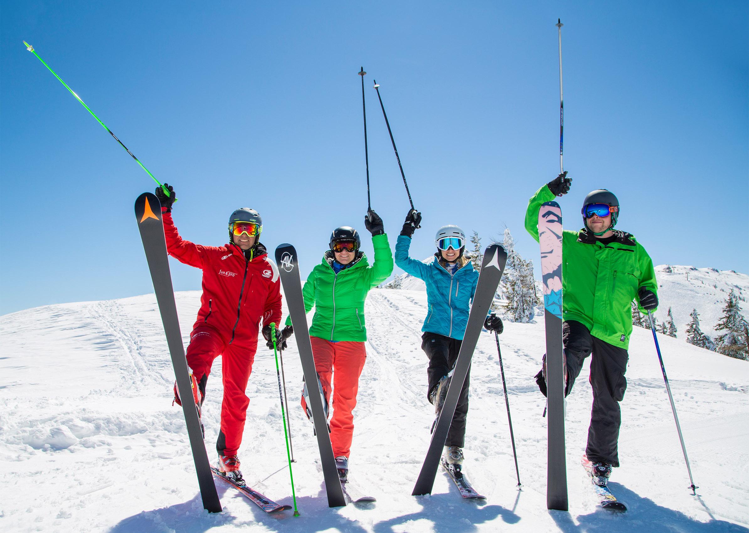 Skipisten Pistenmarkierung Flachau Skiurlaub