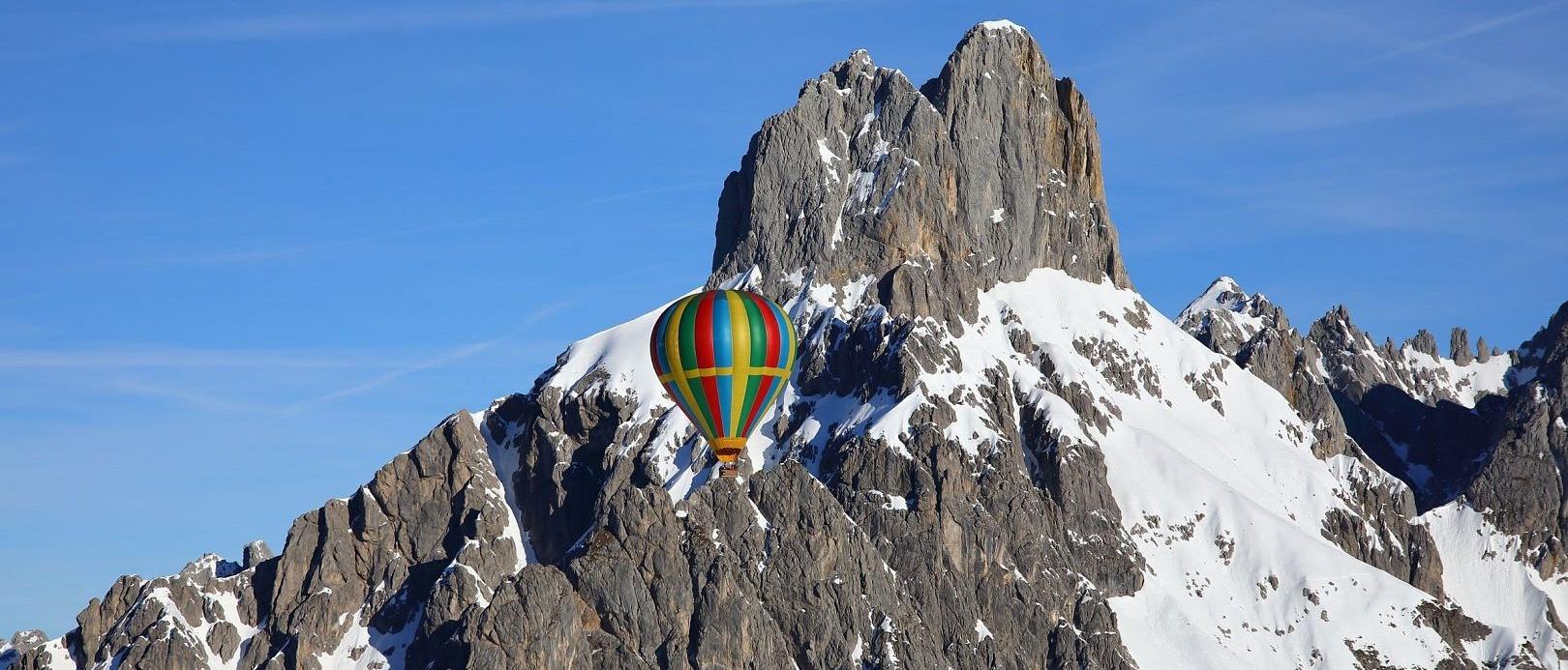 Ballonwoche Filzmoos Flachau Winterurlaub Familie Event Skiurlaub Salzburger Land Ballonfahren